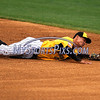 8/29/2017 Mike Orazzi | Staff<br /> New Britain Bees' Yusuke Kajimoto (8) during Tuesday's game with the Sugar Land Skeeters.