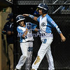 8/11/2017 Mike Orazzi | Staff<br /> Maryland's DJ Shipton (35) and Josh Skowronski (3) celebrate after tying the score at 3 against PA during the Eastern Regional Little League Tournament at Breen Field in Bristol Friday night.