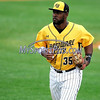 8/29/2017 Mike Orazzi | Staff<br /> New Britain Bees' Jovan Rosa (35) during Tuesday's game with the Sugar Land Skeeters.