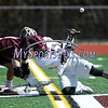 4/14/2017 Mike Orazzi | Staff<br /> South Windsor's Matt Greer (4) and Bristol Central's Ian Staubley (19) during boys lacrosse at BC Friday.