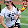 4/26/2017 Mike Orazzi | Staff<br /> Bristol lacrosse's Emily Stadnicki (10) during Wednesday's game with Northwest Catholic at Bristol Eastern.