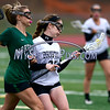 4/26/2017 Mike Orazzi | Staff<br /> Bristol Coop Girls Lacrosse's Hannah Ouellette (35) and Northwest Catholic's Madison Cote (15) at Bristol Eastern Wednesday.