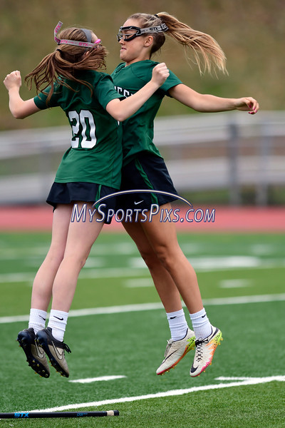 4/26/2017 Mike Orazzi   Staff<br /> Northwest Catholic's Claire Carew (20) and Madison Cote (15) at Bristol Eastern.
