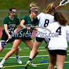 4/26/2017 Mike Orazzi | Staff<br /> Bristol lacrosse's Gabriele Abramczyk (8) and Northwest Catholic's Madison Cote (15) at Bristol Eastern.