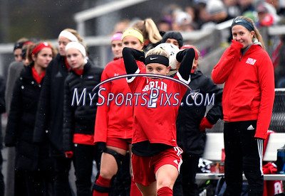 11/18/2017 Mike Orazzi | Staff Berlin's Lexi Kavarsky (2) during the Class M Final at Municipal Stadium in  Waterbury Saturday. Granby won 3-0.