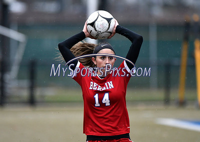 11/18/2017 Mike Orazzi | Staff Berlin's Emma Norton (14) during the Class M Final at Municipal Stadium in  Waterbury Saturday. Granby won 3-0.