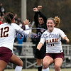 11/18/2017 Mike Orazzi | Staff<br /> Granby Memorial's Maria Nolan (11) celebrates the first goal during the Class M Final at Municipal Stadium in  Waterbury Saturday. Granby won 3-0.