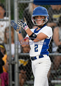 6/13/2017 Mike Orazzi | Staff Southington's Michelle Woodruff (2) during the Class LL Softball final with Trumbull at West Haven High School Saturday night.