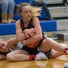 Meredith Dean and Brooke Better battle for a loose ball