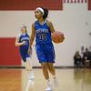 Rebekah Weaver brings the ball down court