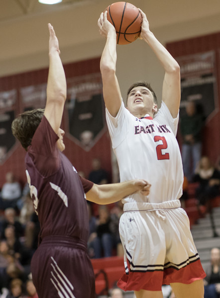 Austin Beaghan takes a jumpshot