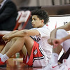 Tyce McNair awaits to take the court