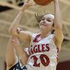 Nicole Jefferson pulls down a rebound