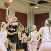 Ali Berry goes in for a layup.