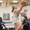 Stephanie Ouderkirk takes a layup