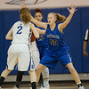 Stephanie Ouderkirk guards Faith Farley