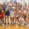The Blazers celebrate after winning the Region Trophy