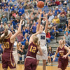 Stephanie Ouderkirk makes one last attempt to break the tie at the end of the fourth quarter