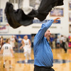 Coach Dodson rips his jacket off as the Blazers storm the court to claim their Region Trophy