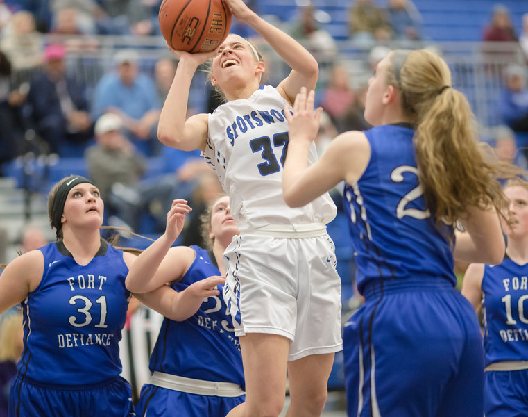Brooke Vetter takes a jumpshot