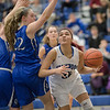 NaKaila Gray takes a look at a shot under the basket