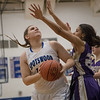 Emma Seekford turns for a shot under the basket