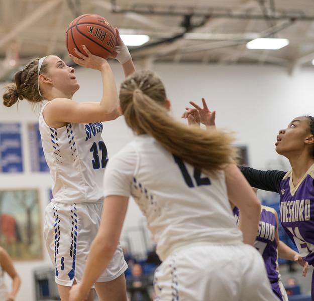 Brooke Vetter goes for a jumpshot