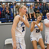 Brooke Vetter gets cheered on by her teammates after being named to the District Team