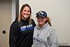 Mayville Coach Ashley VandeVeen and DSU Coach Kristen Fleury