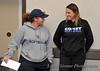 DSU Coach Kristen Fleury and Mayville Coach Ashley VandeVeen