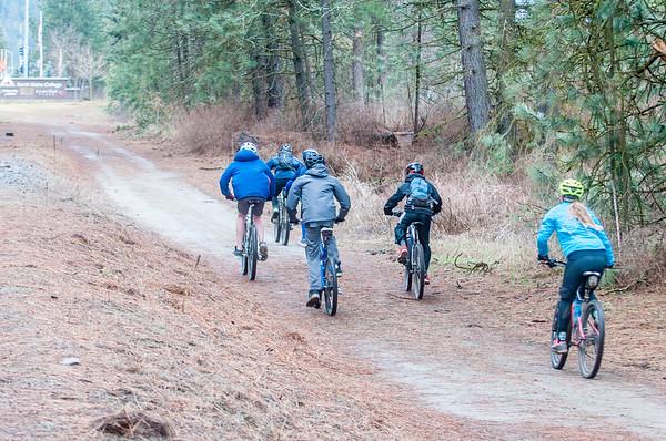 2018-03-18, Coeur d' Alene Area Middle/ High School Team Mountain Bike Practice