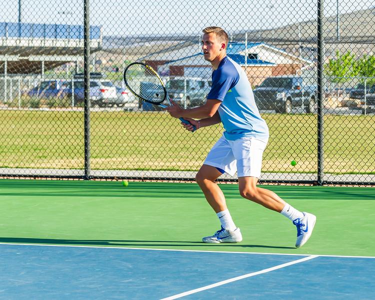2018-04-05 Dixie HS Tennis vs Pineview_0509