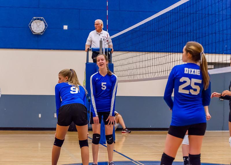 2018-09-18 Dixie HS Volleyvall vs Desert Hills_0645