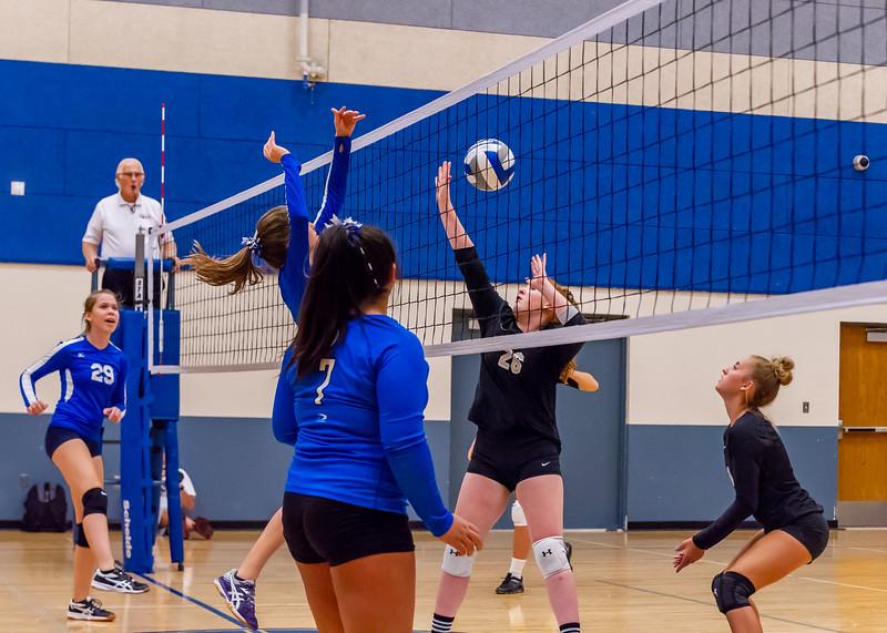2018-09-18 Dixie HS Volleyvall vs Desert Hills_0571