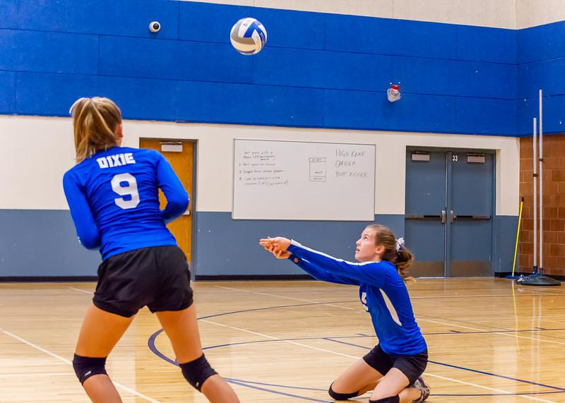 2018-09-18 Dixie HS Volleyvall vs Desert Hills_0335