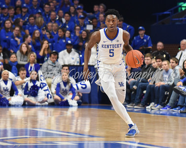 Kentucky's Immanuel Quickley leads a break on Friday evening against Southern Illinois.  MARTY CONLEY/ FOR THE DAILY INDEPENDENT