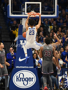 EJ Montgomery of Kentucky throws down a dunk on Friday evening against SIU.  MARTY CONLEY/ FOR THE DAILY INDEPENDENT