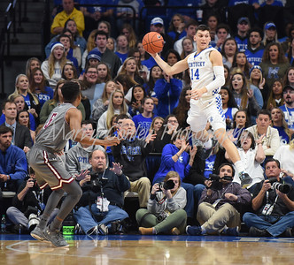 Tyler Herro of Kentucky saves the ball from going out of bounds on Friday evening against Southern Illinois.  MARTY CONLEY/ FOR THE DAILY INDEPENDENT