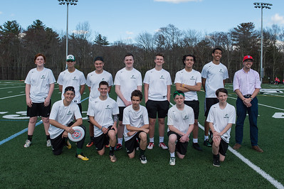 Abington High School Ultimate Frisbee Team 2018 Front Row: (LtoR) Connor Saccoach -  Bobby Molloy - Neeko DiMascio - Bubba Gendreau - Declan Hamill Back Row (LtoR) Reid Norton - Yazan Zaidan - Jason Kinniburgh - Liam Sullivan - Mike Boyle - Mohammed Zaidan - Cam Curney - Coach Matthew Cutter [Wicked Local Photo/Bill Marquardt]