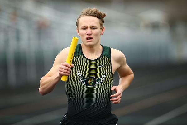 4-21-18<br /> Eastern Relays<br /> Jack Johnson runs a leg of the boys 3200m relay.<br /> Kelly Lafferty Gerber   Kokomo Tribune