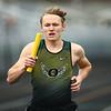 4-21-18<br /> Eastern Relays<br /> Jack Johnson runs a leg of the boys 3200m relay.<br /> Kelly Lafferty Gerber | Kokomo Tribune