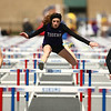 4-28-18<br /> Kokomo Relays<br /> NW's Makala Pfefferkorn in the 100 m hurdles.<br /> Kelly Lafferty Gerber | Kokomo Tribune