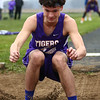 4-24-18<br /> Northwestern Relays<br /> NW's Ethan Kinney in the long jump.<br /> Kelly Lafferty Gerber | Kokomo Tribune