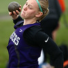 4-24-18<br /> Northwestern Relays<br /> NW's Bailey Fillenwarth in the shot put.<br /> Kelly Lafferty Gerber | Kokomo Tribune