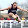 4-24-18<br /> Northwestern Relays<br /> NW's Makayla Phillips in the girls shuttle hurdle relay.<br /> Kelly Lafferty Gerber | Kokomo Tribune