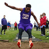 4-24-18<br /> Northwestern Relays<br /> NW's Tayson Parker in the long jump.<br /> Kelly Lafferty Gerber | Kokomo Tribune