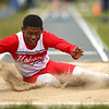4-28-18<br /> Kokomo Relays<br /> Kokomo's Andra Nash in the boys long jump.<br /> Kelly Lafferty Gerber | Kokomo Tribune