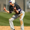 4-18-18<br /> Northwestern vs Western baseball<br /> NW's Ben Harris celebrates on second base after hitting a double.<br /> Kelly Lafferty Gerber | Kokomo Tribune