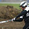 4-17-18<br /> Northwestern vs Western softball<br /> Western's Kinsey Smith bats.<br /> Kelly Lafferty Gerber | Kokomo Tribune
