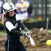 4-17-18<br /> Northwestern vs Western softball<br /> Western's Gabi King bats.<br /> Kelly Lafferty Gerber | Kokomo Tribune